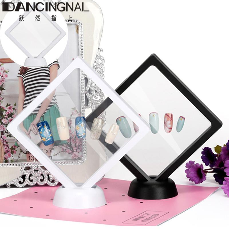 3d Floating Nail Box Tips Display Stand Holder Bague Packaging With ...