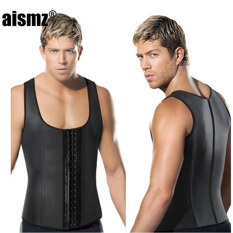 5a40f8378 2019 Men S Dream Vine Latex Waist Trainer Vest For Men Black Waist ...