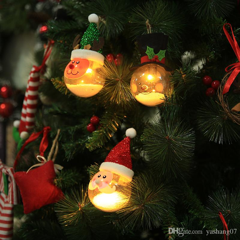 hot christmas ornament lamp foam particles christmas balls cartoon creation new old snowman christmas tree decoration christmas decoration sales online