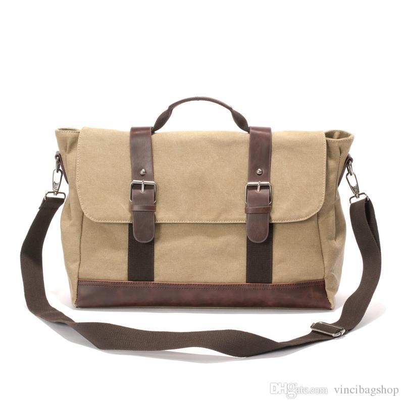 297c195db8fa Men Messenger Bag Canvas Shoulder Bags Large Capacity Crossbody Bags  Vintage Satchel Business Laptop Briefcase Hand Bag For School C105 Leather Purses  Bags ...