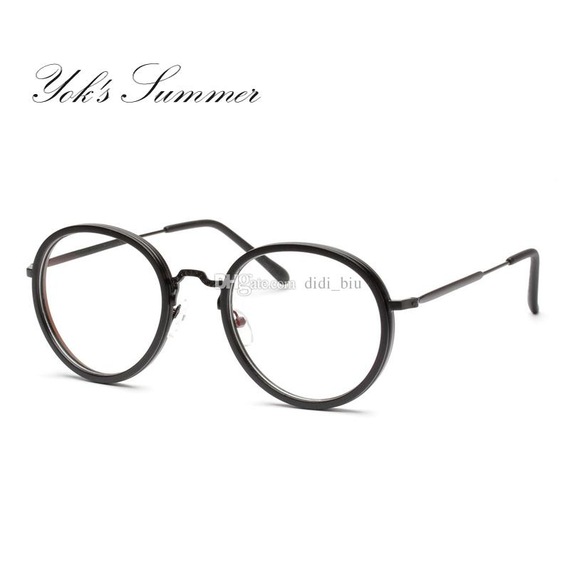 9ac8047caf4 Yok s Summer Korean Small Round Eyeglass Frame Retro Thin Metal ...