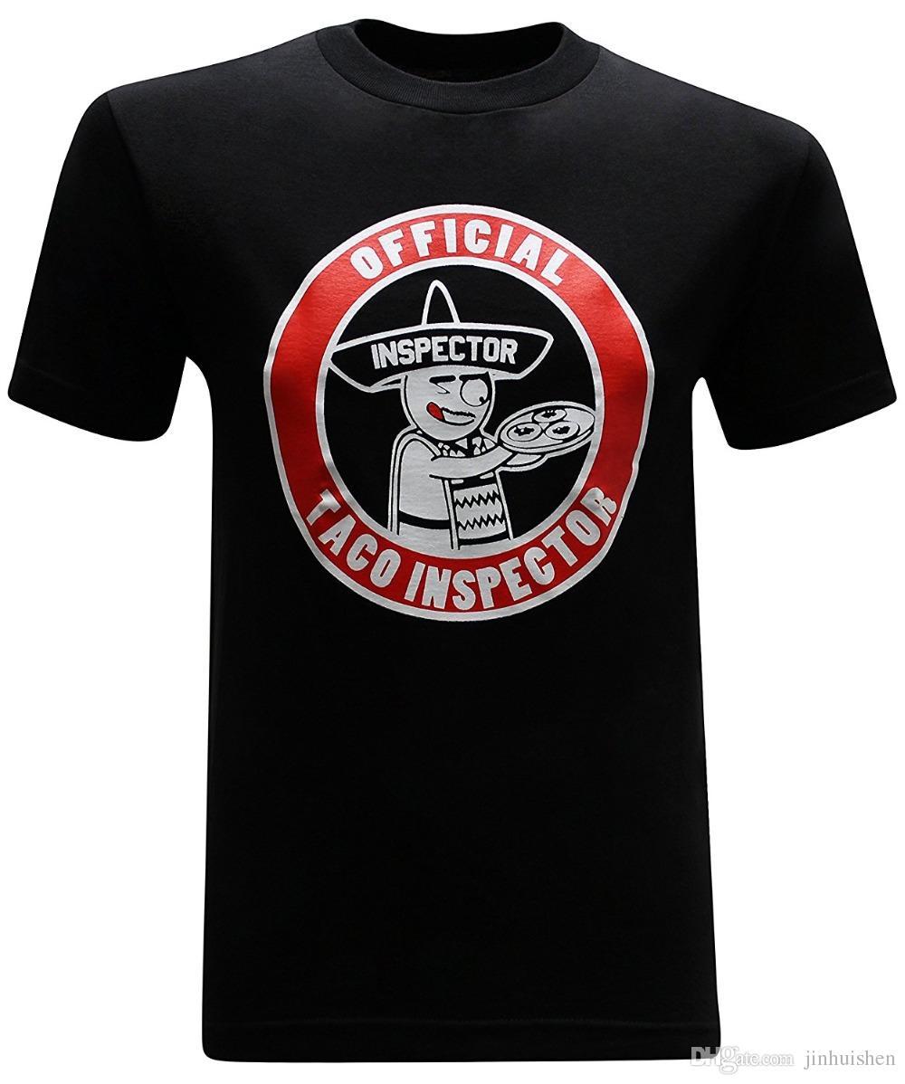 e7853b19 Summer 2018 New Taco Inspector Funny Mexican Men's T-Shirt Funny Printing T  Shirts Men Short Sleeve T-shirts