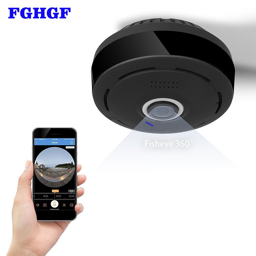 FGHGF 360 Degree 960P HD Panoramic Wireless IP Camera CCTV WiFi Home  Surveillance Security Camera System Indoor Remote