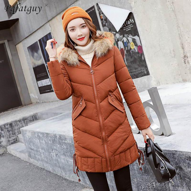 dccb4556bc865 2019 Parkas Mujer 2018 New Fashion Women Winter Down Cotton Padded .