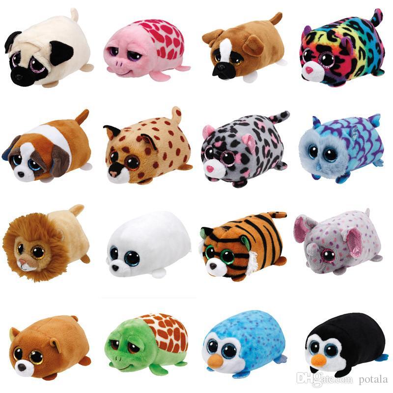4 pulgadas TY Beanie Boo pequeñito tys felpa helada el sello 10cm TY león  Elefante ojos grandes felpa juguete muñeca tortuga jirafa perro panda bebé  niños ... ad17f1fafa3