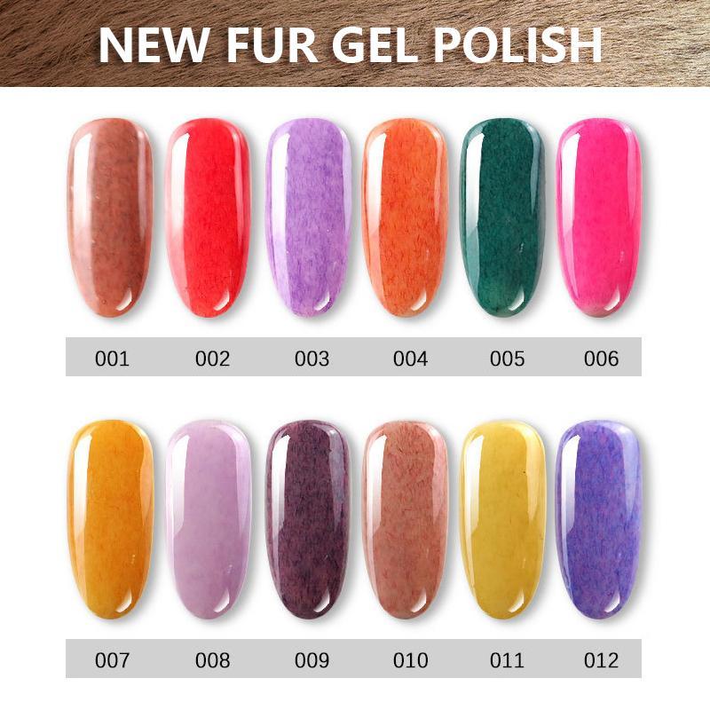 1kg Faux Fur Effect Gel Nail Polish Soak Off Nail Art Varnish Uv Led