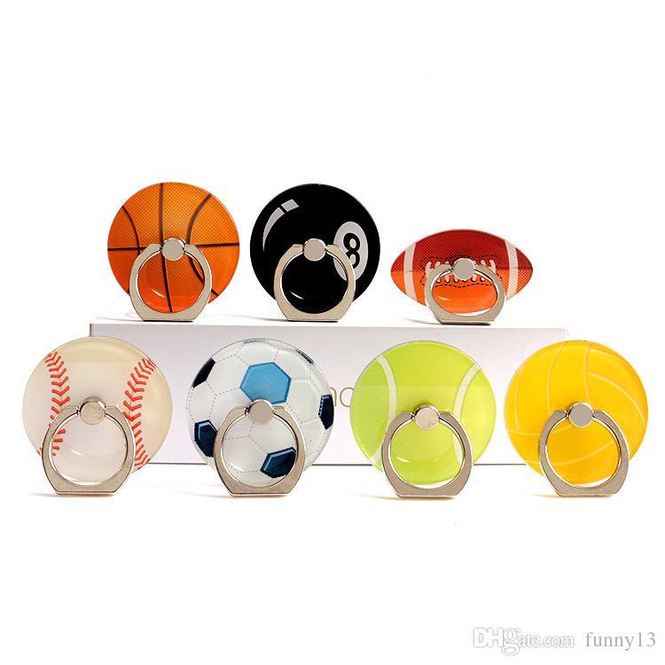 Alta qualidade e preço favorável anel fivela suporte do telefone suporte do presente de basquete criativo de futebol de futebol tênis de acrílico preguiçoso apoio passagem
