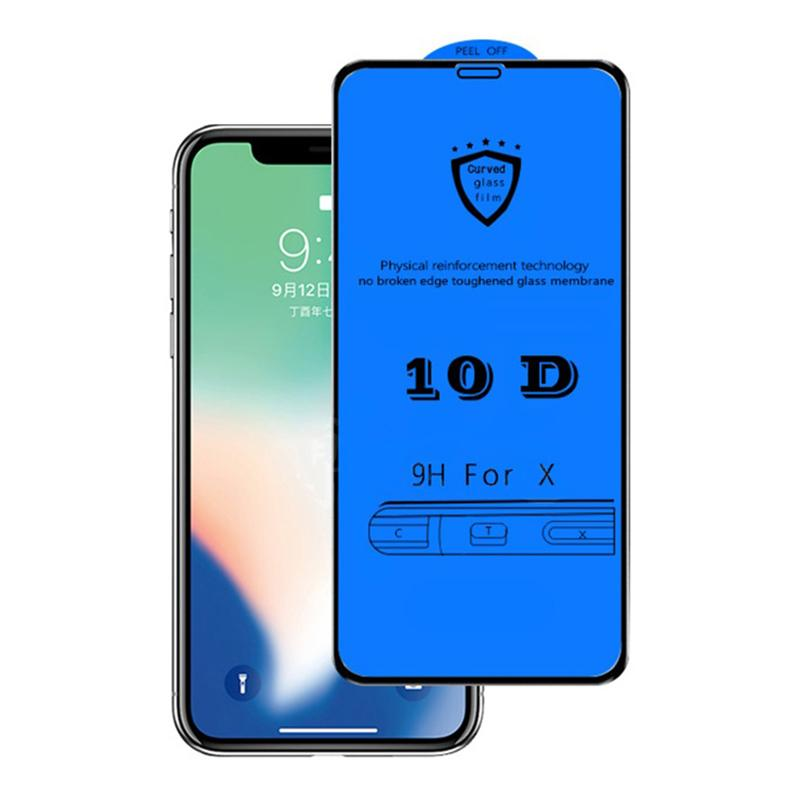 new concept 4602d 91c40 10D Tempered Glass for Iphone XR Full Cover Tempered Glass Screen Protector  Film for iPhone XR XS XS Max