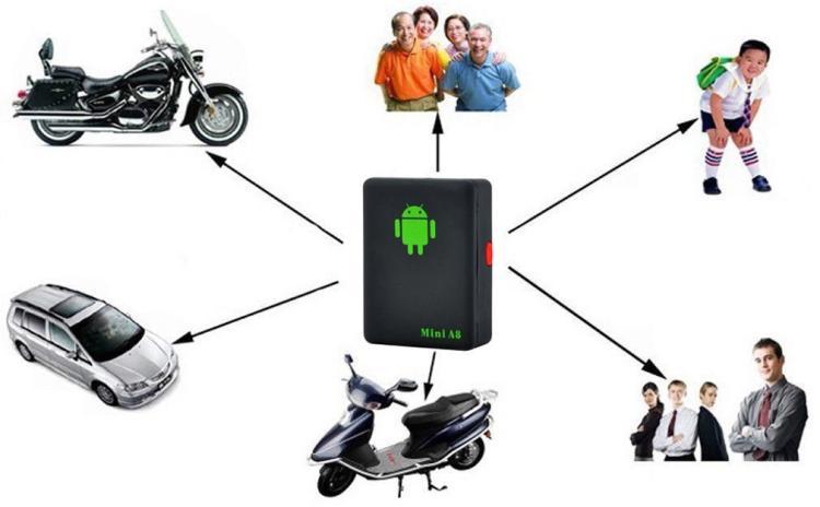 Mini A8 Auto GPS Tracker Global Real Time 4 Frequenza GSM / GPRS Security Auto Tracking Supporto Android bambini Veicolo animali domestici