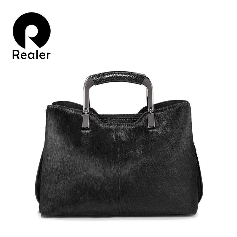 Wholesale Women Handbags Real Fur Horsehair Cross Body Messenger Bags  Genuine Leather For Female Shoulder Bags Ladies High Quality Handbag  Wholesale Womens ... 0251294d34785
