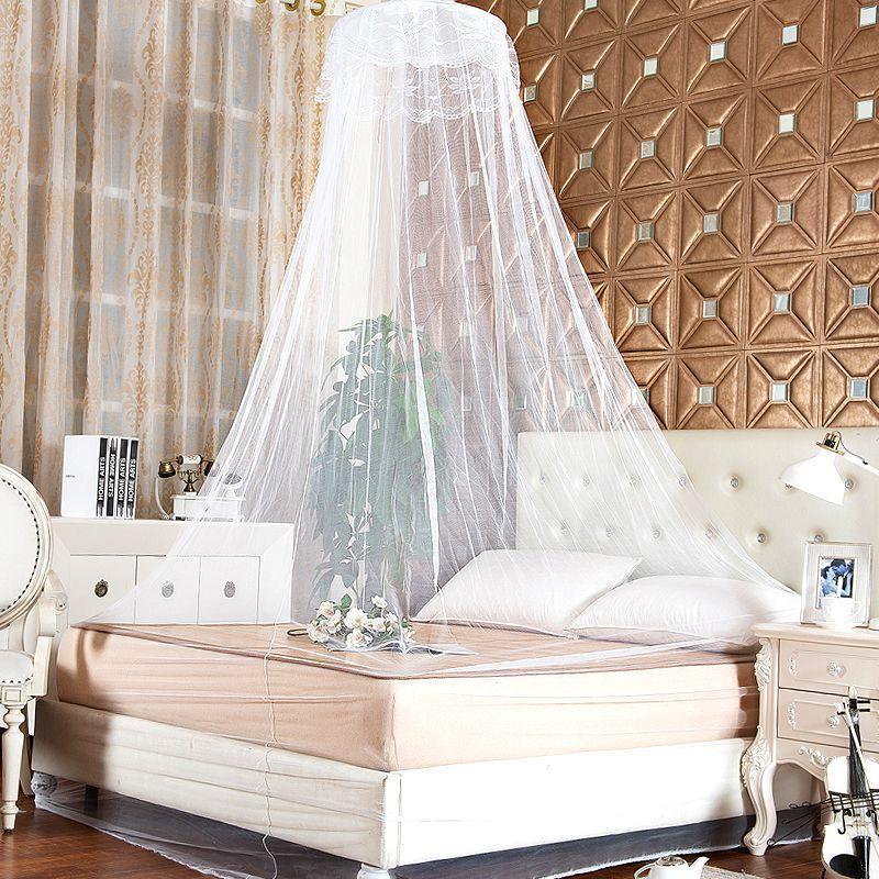Großhandel Elegante Spitze Mesh Baldachin Prinzessin Runde Dome Bettwäsche Net  Bett Moskitonetz Von Asite, $24.71 Auf De.Dhgate.Com | Dhgate