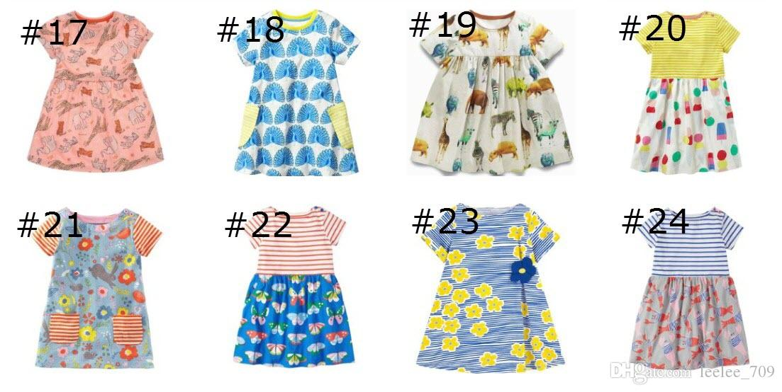 Summer Girl Dress Licorne Animaux Toddler Party Dress Style Européen Américain Bébé Fille Vêtements en gros Robe