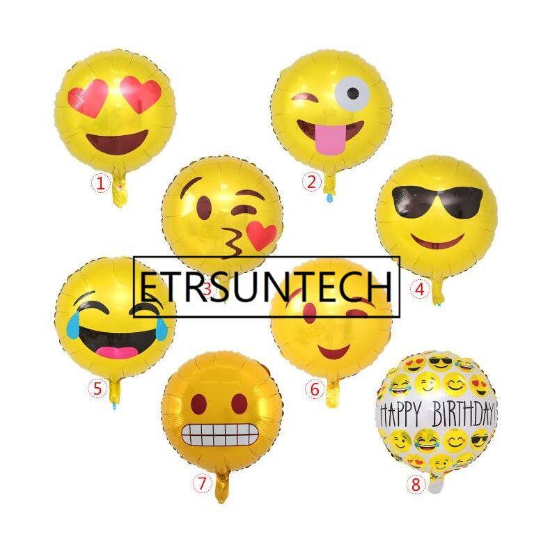 Grosshandel 500 Stucke Emoji Folie Heliumballons Aluminium