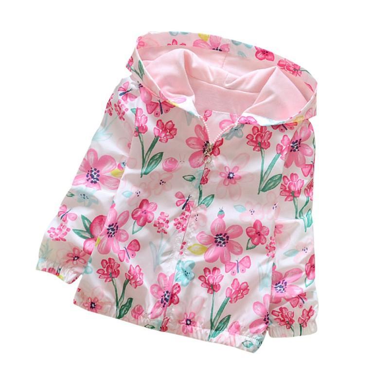 13096113e3 Compre Primavera   Outono Novo Feminino Roupas Femininas Flores Do Bebê Com  Capuz Manga Comprida Blusão Bebê Roupas De Wonderfulss