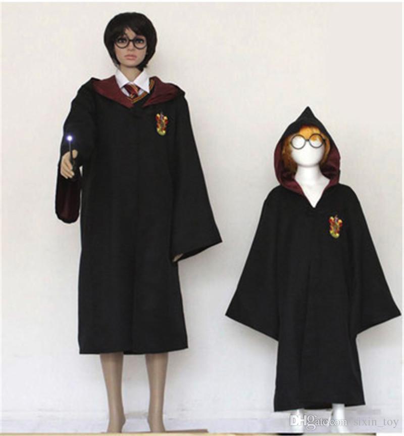 4 Styles Harry Potter Costume Adult Cloak Robe Cape Halloween Gift