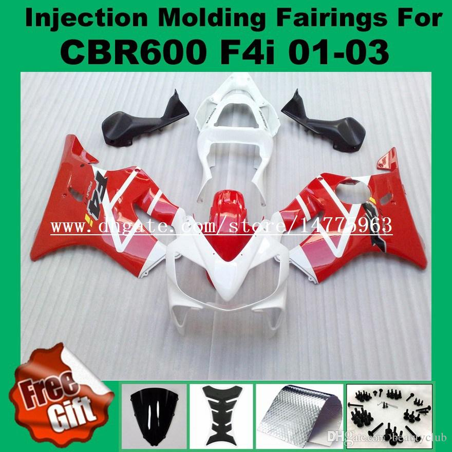 100%Fit Injection fairings For F4i HONDA CBR600F4i CBR600RR 01 02 03 CBR 600 F4i CBR 600F4i 2001 2002 2003 #255G2 ABS Fairing kits