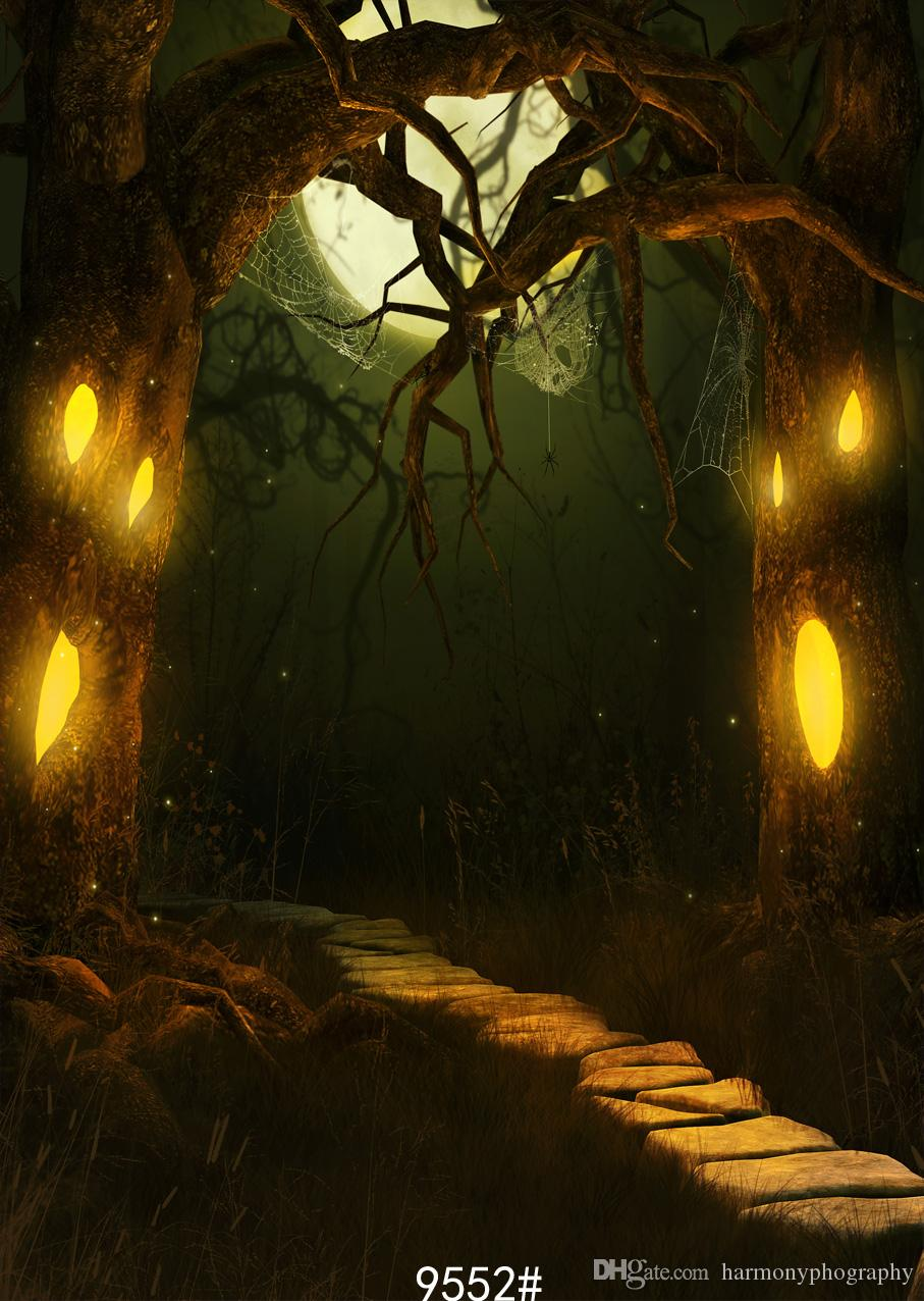 2018 halloween backdrop ancient mysterious night tree photography backdrops vinyl cloth customize backgrounds for photo studio party from harmonyphography
