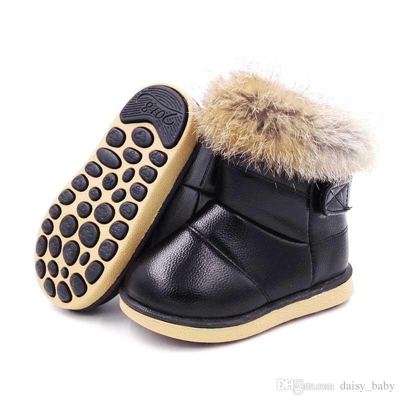 21f0c2a94018c Acheter Mode Hiver Enfant Bottes De Neige Chaussures Chaud En Peluche  Semelle Souple Filles Bottes Enfants Botte De Neige Chaussures   17 De   14.22 Du ...