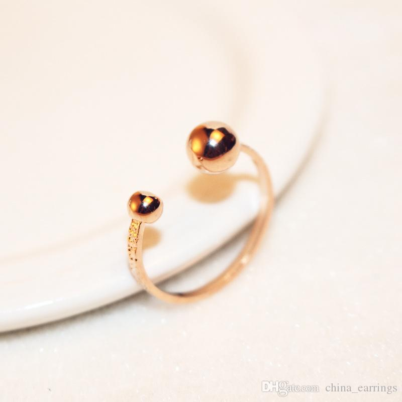 0f52067fa35a2e 2019 Adjustable Rose Gold Color Filled Rings Two Ball Open Adjust Simple  Delicate Jewelry Young Minimalist Skinny Thin Ring From China_earrings, ...