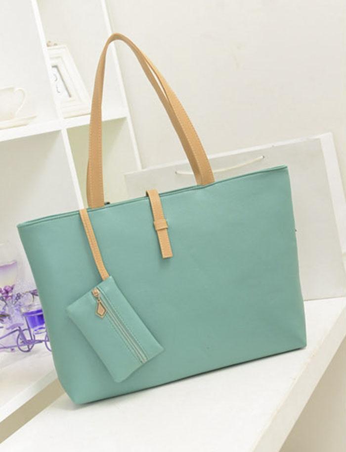 New Handbag Quality PU Leather Women Bag Retro Belt Buckle Shoulder ... 085e703e80a7e
