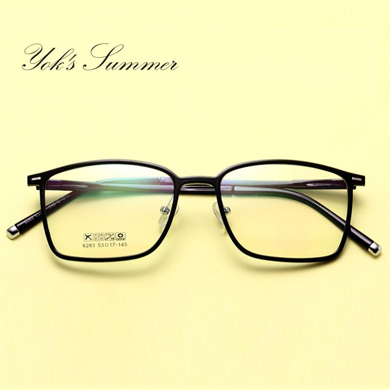 334c5830bc Yok s Summer Rectangle Frame Clear Spectacles Men Vintage Plastic reading  glasses Optical Prescription Eyewear Frames Lunette UN080