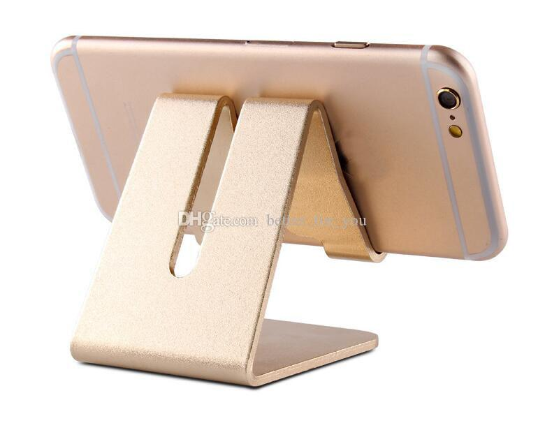 Smart phone holder Universal Aluminum Metal Cell Phone Tablets PC Desk Stand Holder with retail box Support Bracket Rose Gold