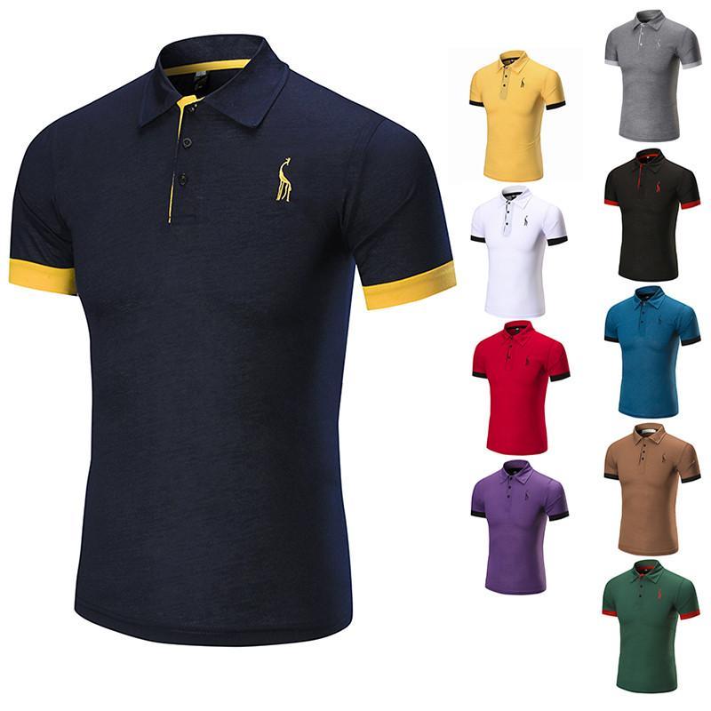 b02d2a0bc0f 2019 New 2018 Men S Brand Shirt For Male Designer Polos Men Cotton Short  Sleeve Shirt Brands From Zenan
