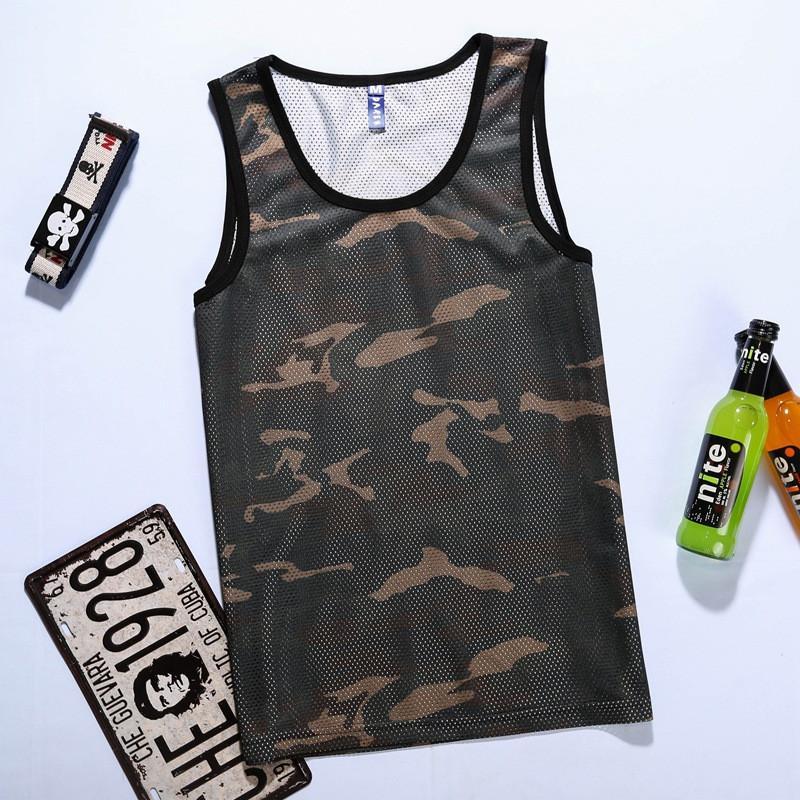 84b30095b0297 2019 Men Camouflage Tank Top Mesh Quick Dry Hip Hop Sleeveless Shirt  Fashion Summer Harajuku Vest Camiseta Tirantes Hombre From Cailey