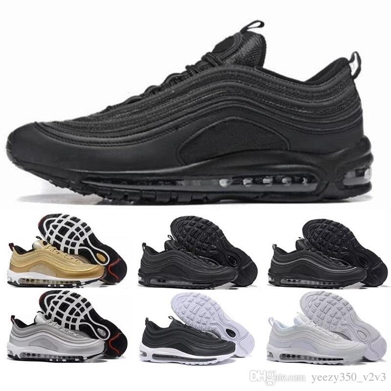 New Man 97 Running Shoes X Undefeated UNDFTD Gold Silver Bullet ... 2cc0e1c96