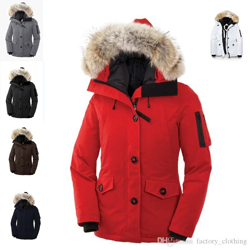 a1104d1befa 2019 2018 Women Bomber Femme Outdoors Goose Fur Down Jacket Hiver Thick  Warm Windproof Goose Down Coat Thicken Fourrure Hooded From  Factory_clothing, ...