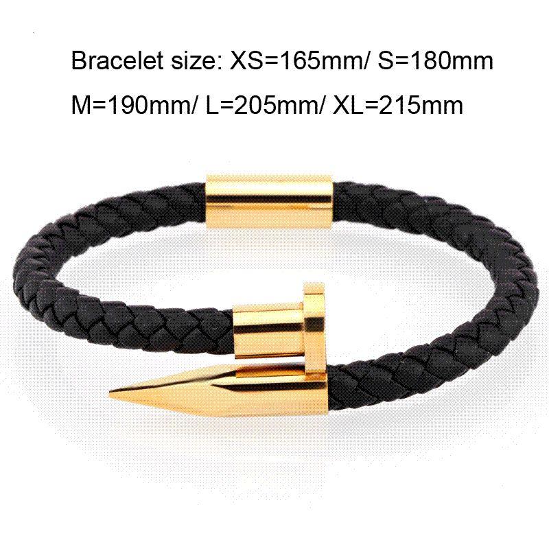 e0b014aa315329 Mcllroy Bracelets Hommes Breloques Bracelets Hommes En Cuir Bracelet Ongles  Charme Amour Manchette Manchette Bracelet Hommes Mode Hommes bijoux