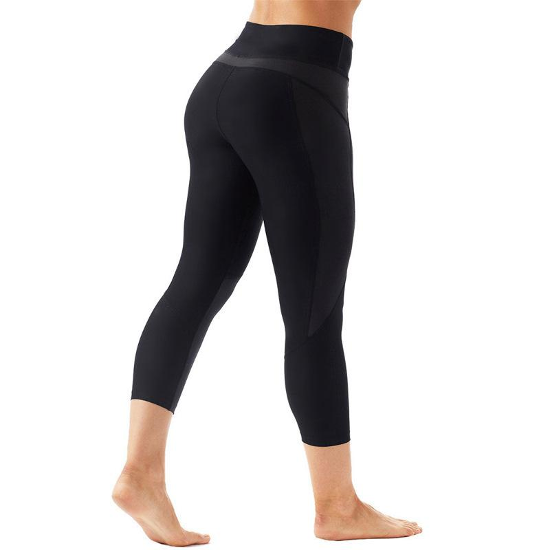 dcb27311ad49f 2019 Yoga Seven Part Pants Woman Xia Bokuan High Waist Yoga Serve 2018  Close Lift The Hips Motion Bodybuilding Run Pants From Wudun, $34.54 |  DHgate.Com