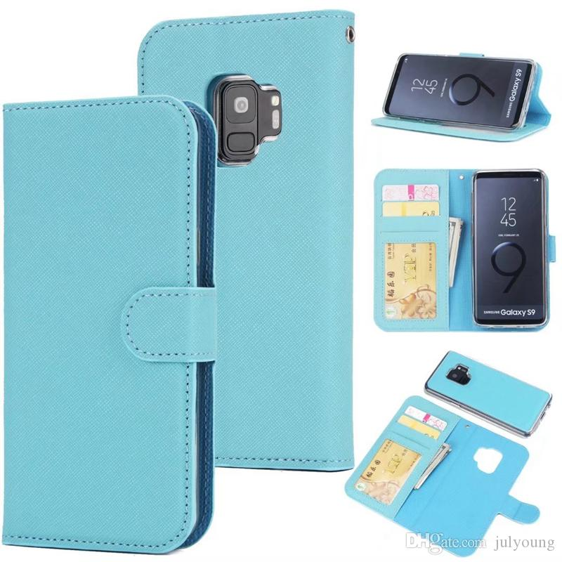 Vertical Detachable Removable Wallet Leather For Galaxy S9 Plus Case Cover 2 in 1 Card Slot Frame Photo Flip Skin Phone Purse Handbag Pouch