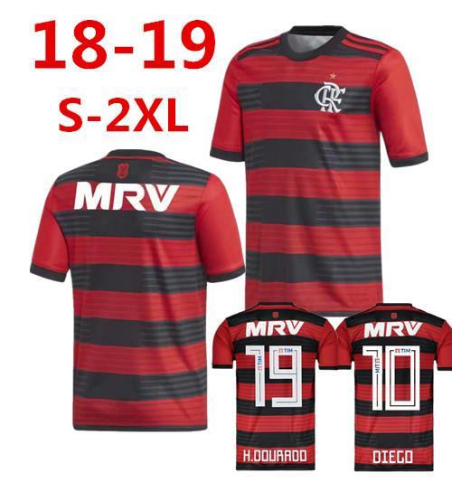 46392782355c3 18 19 Flamengo Jersey Flamengo Jersey 2018 2019 Brasil Flamenca De  Distancia ZICO ELANO HERNANE Fútbol Jerseys De Los Deportes Chlid Camisa  Por Minghao666