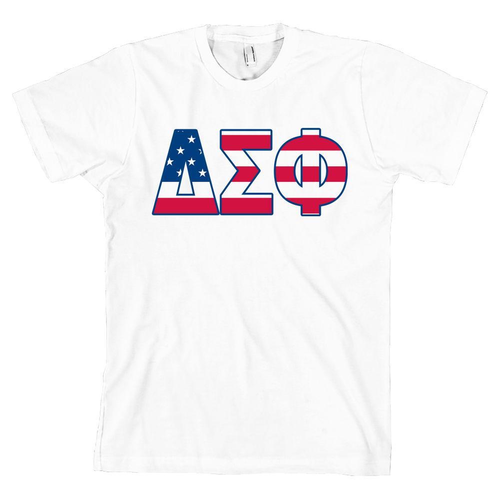 3e6ca795aa9240 Großhandel Delta Sigma Phi Bella + Leinwand T Shirt Delta Sig USA  Buchstaben   ALLE GRÖßEN   Von Jackiegreen