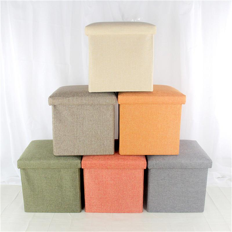 Genial 2018 Multifunctional Storage Box Linen Shoe Changing Sofa Folding Cloth Toy Storage  Boxes Stool Organizer Home Decor Foldable From Doost, $76.87 | Dhgate.