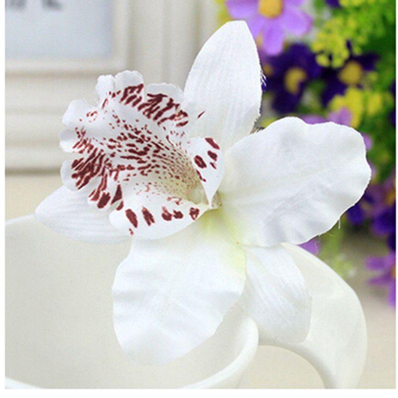 Yeni Moda Düğün Dekorasyon Saç Pin Gelin Çiçek Orkide Leopar Hairwear Güzellik Tokalar Barrette Plaj Hairwear