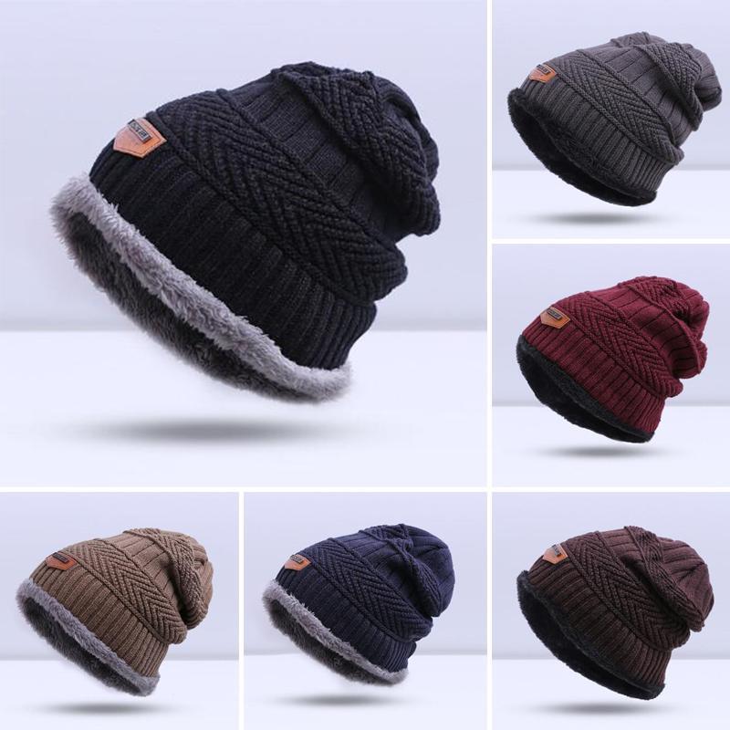 924d88c32e4 URDIAMOND Unisex Men s Winter Hat Knitted Hats Cotton Warm Fall Hat ...