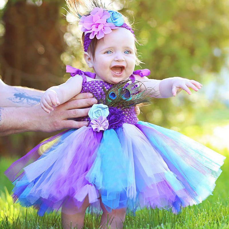 62a428443cd0f Girls Rainbow Fairy Tutu Dress Fluffy Baby Dress with Matching Headband  Toddler Halloween Birthday Photo Costume TS125 35
