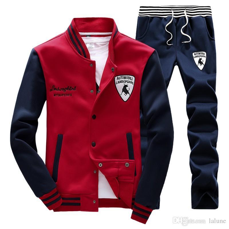 가을 겨울 운동복 TENIS 야구 폴로 정장 XS - 4XL 남성 야외 스포츠 후드 조깅 조깅 세트 바지를 셔츠