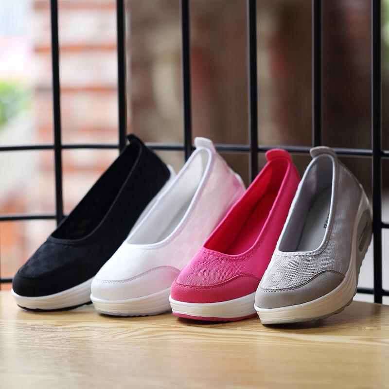 Woman Casual Air Mesh Breathable Damens Schuhes Damens Breathable Summer Flat Platform ... 3668ad