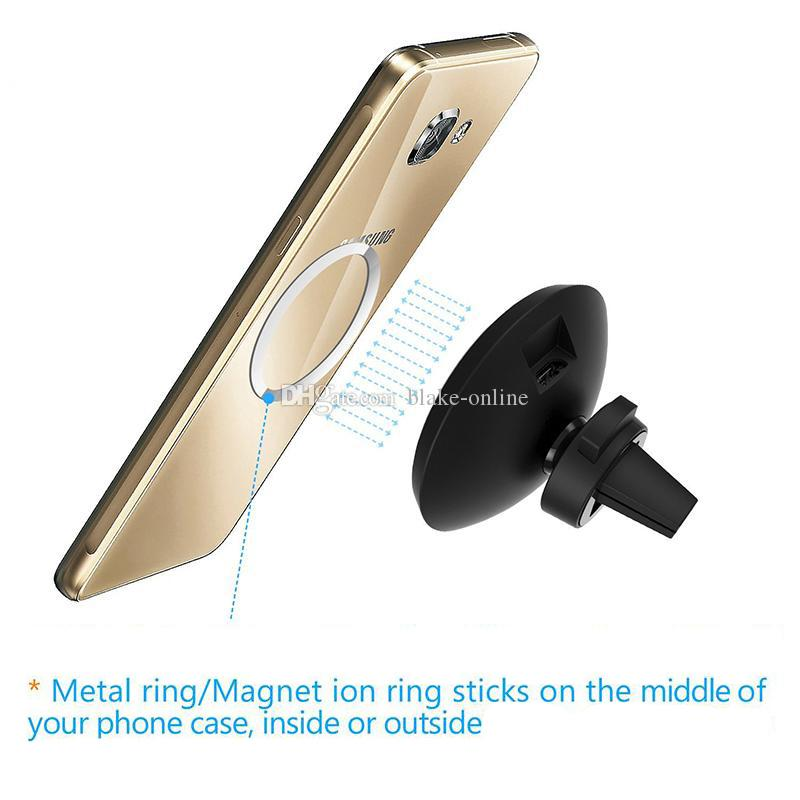 5W hilos del coche QI cargador inalámbrico titular magnético del soporte de salida de aire para iPhone 8 X XS Max Samsung Galaxy S6 S7 S8 Plus