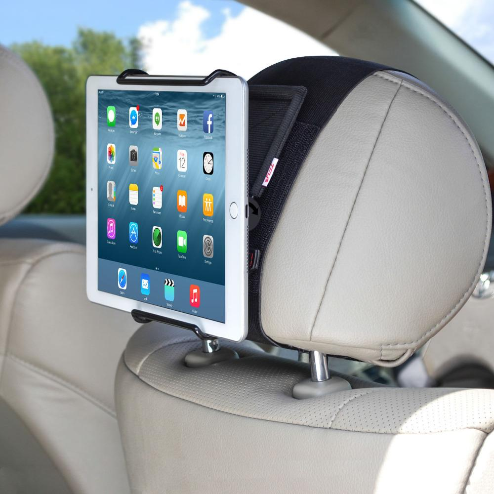 wholesale Universal Car Headrest Mount Holder with Angle- Adjustable Holding Clamp for 6 - 12.9 Inch Tablets