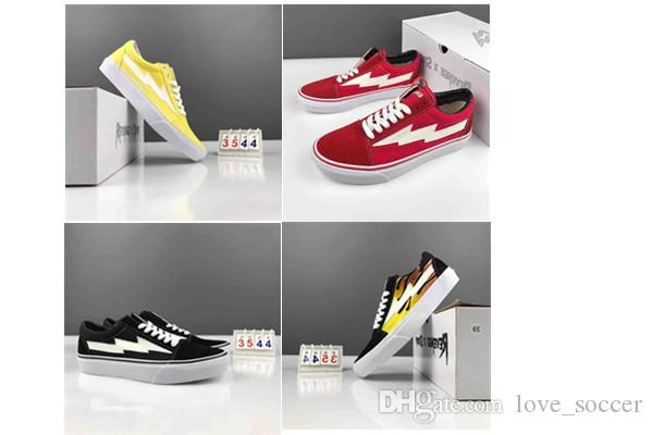 a332df9e47ce Newest Right Revenge X Storm Old Skool Black Red Yellow Casual Shoes ...