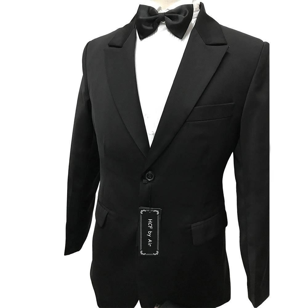 9c5e0e3abc79ca HCF by Air Men's 1 Piece 2 Button Peak Lapel Skinny Fit Wedding Casual  Business Tuxedo Men Formal Suits Jacket Black