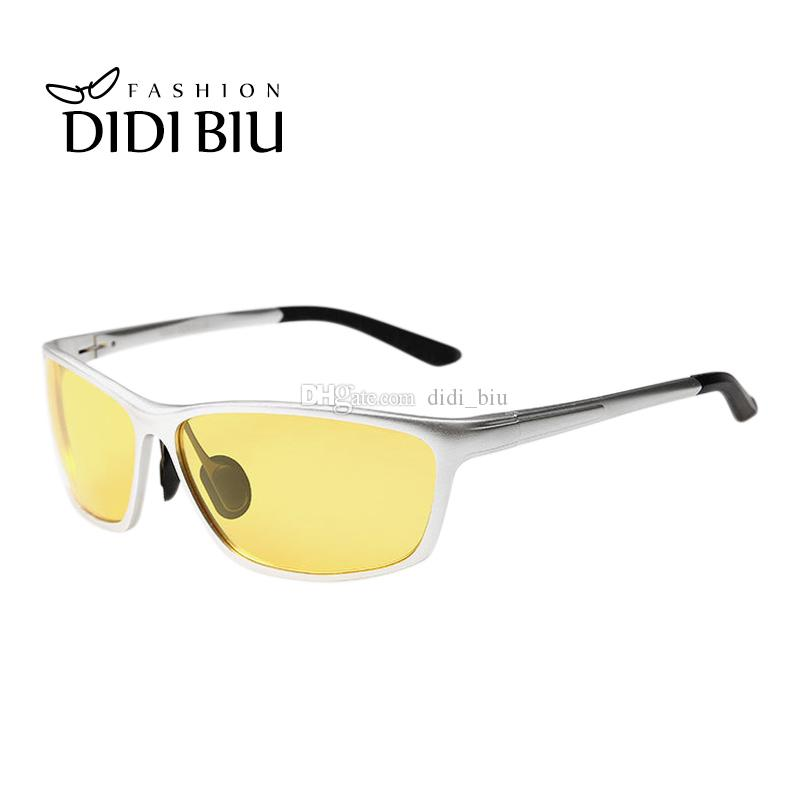 9eeca5ebd64 Night Vision Yellow Glasses Polarized Sunglasses Men Brand Rectangle ...