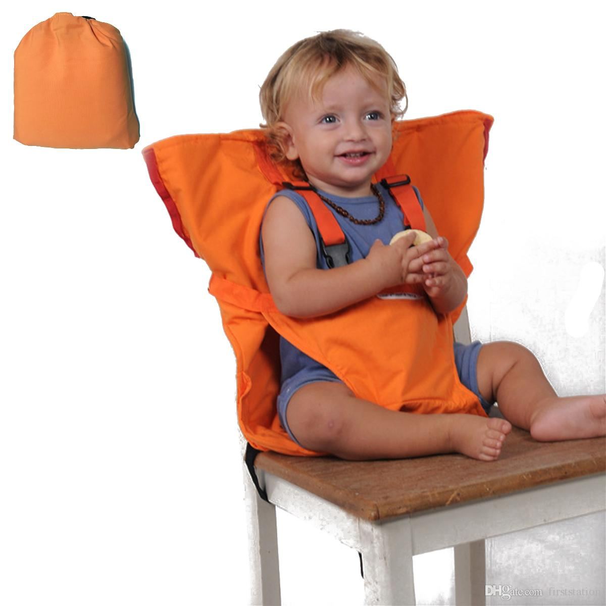 Baby High Chair Feeding Booster Safety Seat Harness Cover Sack Cushion Bag,  Adjustable Portable Travel Washable Orange Belt For Kid Toddler Seat Covers  For ...