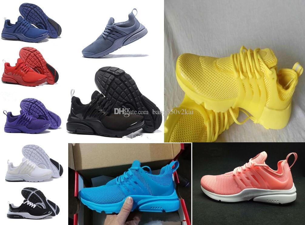 new concept bd3f1 f735b Acquista 2017 Prestos 5 Running Shoes Uomo Donna Presto Ultra Br Qs Giallo  Rosa Oreo Outdoor Fashion Jogging Sneakers Taglia Us 5.5 11 A  62.32 Dal ...