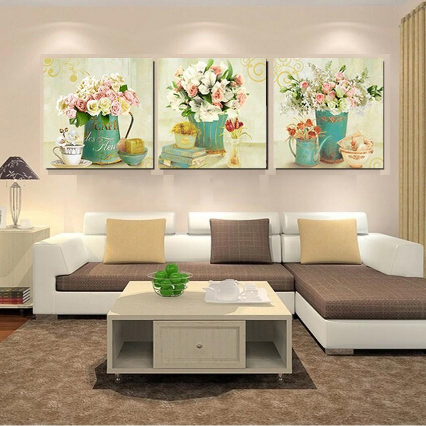 Rose Fleur Mur Art Toile Peinture Vente Chaude Affiche Mur Photos Salon Chambre Décor à La Maison Modulaire Photos Lumineux Fleur