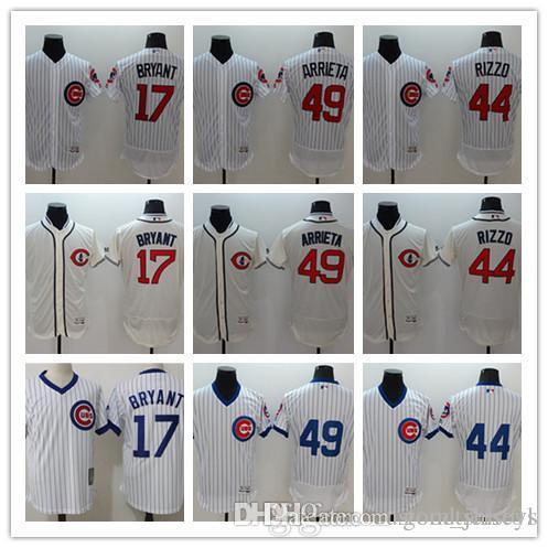 1a53b55e58b Custom Men Women Youth Chicago Cubs Jersey  17 Kris Bryant 44 ...